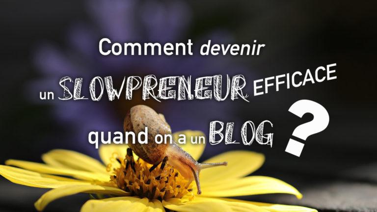 Comment devenir un slowpreneur efficace quand on a un blog ?